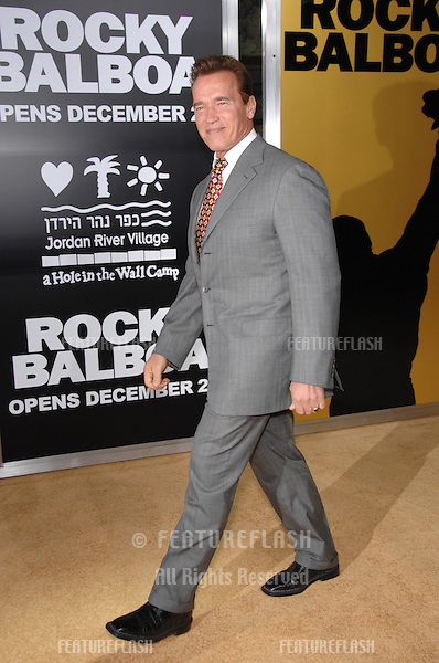 "Gov. ARNOLD SCHWARZENEGGER at the world premiere of ""Rocky Balboa"" at the Grauman's Chinese Theatre, Hollywood..December 13, 2006  Los Angeles, CA.Picture: Paul Smith / Featureflash"