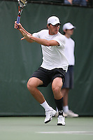 20 May 2006: James Pade at the 2006 NCAA Men's Tennis Championships at the Taube Family Tennis Stadium in Stanford, CA. Stanford defeated Duke 4-0 to advance to the quarterfinals.
