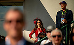 November 3, 2018 : A woman looks over her program on Breeders Cup World Championships Saturday at Churchill Downs on November 3, 2018 in Louisville, Kentucky. ///Eclipse Sportswire/CSM