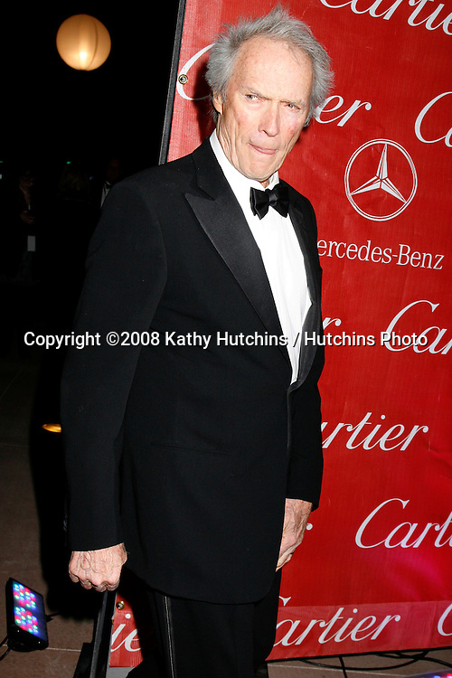 Clint Eastwood  arriving at the 20th Annual Palm Springs Film Festival Awards Gala at the Palm Springs Convention Center in Palm Springs, CA on .January 6, 2009.©2008 Kathy Hutchins / Hutchins Photo..                .