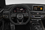 Car pictures of steering wheel view of a 2018 Audi S5 Base 2 Door Convertible