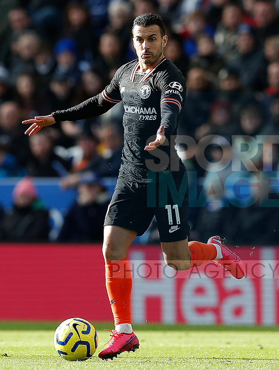 Pedro of Chelsea during the Premier League match against Leicester City at the King Power Stadium, Leicester. Picture date: 1st February 2020. Picture credit should read: Darren Staples/Sportimage