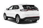 Car pictures of rear three quarter view of a 2018 Ford Edge SEL 5 Door Suv Angular Rear