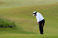 Gurleen Kaur (USA) on the 1st fairway during Round 2 of the Women's Amateur Championship at Royal County Down Golf Club in Newcastle Co. Down on Wednesday 12th June 2019.<br /> Picture:  Thos Caffrey / www.golffile.ie