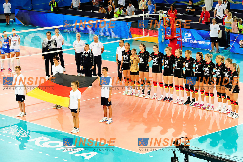 Italia vs Germania<br /> Inno GER<br /> FIVB Volleyball Women's World Championship Italy 2014 <br /> Rome 25-09-2014 Palaeur Foto F.Pasquali/Insidefoto