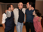 Jordan Sobel, Danny Aiello, Christopher M. Smith and Caitlin Gallogly during the Off-Broadway Opening Night of 'Fiercely Independent' at the Soho Playhouse on March 6, 2019 in New York City.