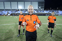 CHAPEL HILL, NC - NOVEMBER 29: Referee Corey Rockwell during a game between University of Southern California and University of North Carolina at UNC Soccer and Lacrosse Stadium on November 29, 2019 in Chapel Hill, North Carolina.