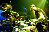 Chris Adler; Drummer ; Lamb Of God; Studio Session; In New York; 2007;<br /> Photo Credit: Eddie Malluk/AtlasIcons.com