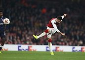 2nd November 2017, Emirates Stadium, London, England; UEFA Europa League group stage, Arsenal versus Red Star Belgrade; Olivier Giroud of Arsenal taking a shot on goal