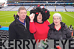 Chrissie O'Sullivan, Sheila Doyle and Ann Marie Doyle (Kenmare) pictured at Croke Park on Sunday for the Kenmare vs Ballinasloe final.
