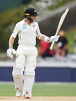 3rd December, Hamilton, New Zealand;  Kane Williamson 50 not out during play day 5 of the 2nd test cricket match between New Zealand and England at Seddon Park, Hamilton, New Zealand.