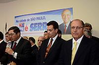 SAO PAULO, 04 DE JUNHO DE 2012 - SERRA PR -o Governador Geraldo Alckmin e o prefeito Gilberto Kassab em reuniao de apoio politico ao candidato Jose Serra na sede do Partido da Republica. na Avenida Republica do Libano, regiao sul da capital, na tarde desta segunda feira. FOTO: ALEXANDRE MOREIRA - PHOTO PRESS