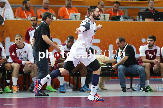 handball wordl cup match between Qatar vs France. Karabatic. 2015/02/1. Doha. Qatar. Alberto de Isidro. Photocall3000