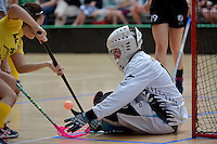 New Zealand's Maria Hegarty in action during the World Floorball Championships 2017 Qualification for Asia Oceania Region - New Zealand v Malaysia at ASB Sports Centre , Wellington, New Zealand on Saturday 4 February 2017.<br /> Photo by Masanori Udagawa<br /> www.photowellington.photoshelter.com.
