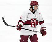 Reilly Walsh (Harvard - 2) - The visiting Colgate University Raiders shut out the Harvard University Crimson for a 2-0 win on Saturday, January 27, 2018, at Bright-Landry Hockey Center in Boston, Massachusetts.