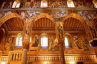Byzantine mosaics at the Palatine Chapel ( Capella Palatina ) Norman Palace Palermo, Sicily, Italy.