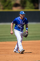 Saint Louis Billikens third baseman Braxton Martinez (23) on defense against the Davidson Wildcats at Wilson Field on March 28, 2015 in Davidson, North Carolina. (Brian Westerholt/Four Seam Images)