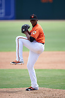 Baltimore Orioles pitcher Jesus Liranzo (84) during an Instructional League game against the Tampa Bay Rays on September 19, 2016 at Ed Smith Stadium in Sarasota, Florida.  (Mike Janes/Four Seam Images)