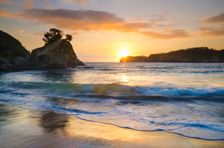 Sunrise, Matapouri Bay, Tutukaka Coast,North Island, New Zealand - stock photo, canvas, fine art print