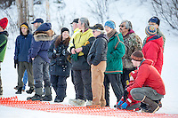 Dakota Schlosser At the start of the 2016 Junior Iditarod Sled Dog Race on Willow Lake  in Willow, AK February 27, 2016