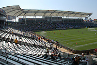 Home Depot Center with fans during Los Angeles Galaxy's David Beckham first practice at the Home Depot Center in Carson, CA on Friday, July 16, 2007.