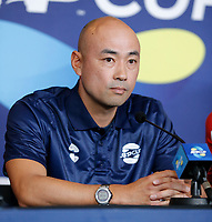 2nd January 2020; RAC Arena , Perth, Western Australia, Australia; ATP Cup Team Press conferences, Japan; Satoshi Iwabuchi Captain of Japan speaks at the team press conference - Editorial Use