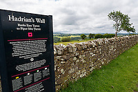 Cumbria, England, UK.  Information Sign at   Banks East Turret, Hadrian's Wall.