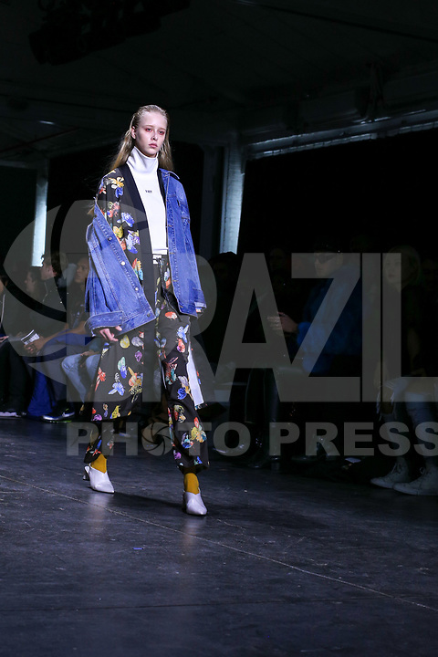 NOVA YORK . EUA, 09.02.2019 - MODA-EUA - Modelo durante desfile Dirty Pineapple no New York Fashion Week (NYFW) em Nova York neste sabado,09. (Foto: Vanessa Carvalho/Brazil Photo Press)