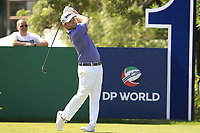 Brandon Grace (RSA) on the 15th tee during the final round of the DP World Tour Championship, Jumeirah Golf Estates, Dubai, United Arab Emirates. 18/11/2018<br /> Picture: Golffile | Fran Caffrey<br /> <br /> <br /> All photo usage must carry mandatory copyright credit (© Golffile | Fran Caffrey)