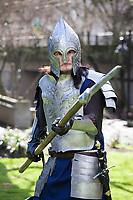Gondor Soldier Cosplay, Emerald City Comicon 2018, Seattle, Washington, USA.