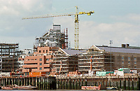 London Docklands:  Development east of Tower Bridge, August, 1987.