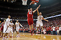 March 9, 2014: Tai Webster (0) of the Nebraska Cornhuskers fouls Frank Kaminsky (44) of the Wisconsin Badgers during the first half at the Pinnacle Bank Arena, Lincoln, NE. Nebraska 77 Wisconsin 68.