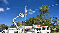 2017 FPL Hurricane Irma restoration in Wabasso, Fla. on September 15, 2017.