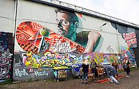 Nederland Eindhoven 2015. Graffiti  bij Strijp-S