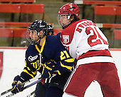 Francois Ouimet (Merrimack - 21), Luke Greiner (Harvard - 24) - The visiting Merrimack College Warriors defeated the Harvard University Crimson 3-1 (EN) at Bright Hockey Center on Tuesday, November 30, 2010.