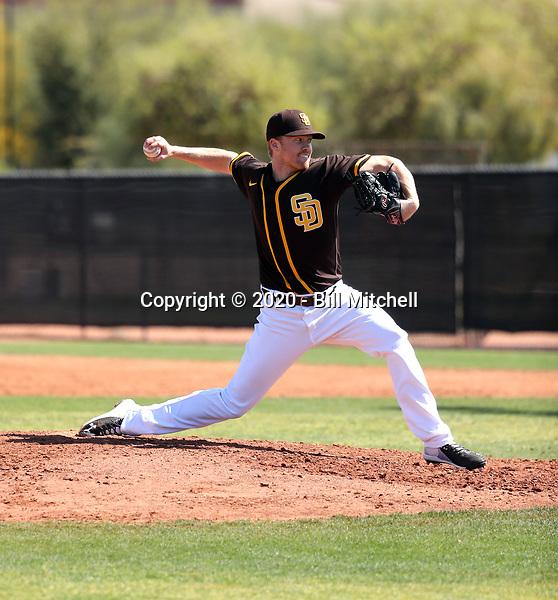 Blake Rogers - San Diego Padres 2020 spring training (Bill Mitchell)