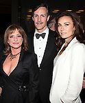 Patti Lupone, Howard McGillin & Laura Benanti.attending the Signature Theatre Stephen Sondheim Award Gala reception honoring Patti Lupone at the Embassy of Italy in Washington D.C. on 4/16/2012.