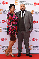 LONDON, UK. May 12, 2019: Asim Chaudhry arriving for the BAFTA TV Awards 2019 at the Royal Festival Hall, London.<br /> Picture: Steve Vas/Featureflash
