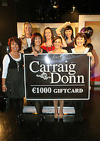 22/10/2010.Finalists of the Carraig Donn Woman 2010 Awards (L to R).Elizabeth Fleming Offaly.Helen Lynch, Mullingar,.Winner of the Carraig Donn Woman 2010 award Anne Jordan from Foxford,.Sharon Huggard, Cork .Sinead Desmond Presenter Ireland AM.Anna Adamowska, Kilkenny.........at Ireland AM studios at TV3 HQ ,Dublin..Photo: Gareth Chaney Collins