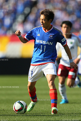 Manabu Saito (F Marinos), <br /> FEBRUARY 21, 2015 - Football / Soccer :<br /> 2015 J.League Pre-season match between <br /> Yokohama F Marinos 0-1 Matsumoto Yamaga FC <br /> at Nissan Stadium in Kanagawa, Japan. <br /> (Photo by Yohei Osada/AFLO SPORT) [1156]