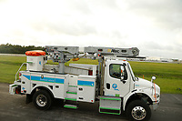 FPL crews preparing for Hurricane Dorian at the St. Augustine, St. John's Airport Staging Site in St. Augustine, Fla. on September 3, 2019.