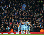 Ilkay Gundogan of Manchester City is swamped after scoring his second goal during the Champions League Group C match at the Etihad Stadium, Manchester. Picture date: November 1st, 2016. Pic Simon Bellis/Sportimage