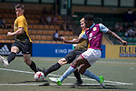 Aston Villa (in purple) vs Singapore Cricket Club (in yellow) during their Main Tournament match, part of the HKFC Citi Soccer Sevens 2017 on 27 May 2017 at the Hong Kong Football Club, Hong Kong, China. Photo by Chris Wong / Power Sport Images