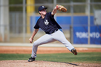 New York Yankees pitcher Chad Whitmer (64) during a Minor League Spring Training game against the Toronto Blue Jays on March 18, 2018 at Englebert Complex in Dunedin, Florida.  (Mike Janes/Four Seam Images)