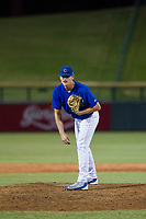 AZL Cubs relief pitcher Mitch Stophel (62) looks to his catcher for the sign against the AZL Diamondbacks on August 11, 2017 at Sloan Park in Mesa, Arizona. AZL Cubs defeated the AZL Diamondbacks 7-3. (Zachary Lucy/Four Seam Images)