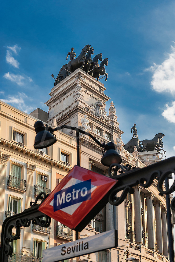 Sevilla Metro and BBVA building, Madrid, Spain