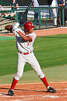 HOUSTON, TEXAS - Feb. 18, 2011: Right fielder Austin Wilson bats in the third inning at Reckling Park on opening day during the game against Rice.  Stanford defeated Rice University 5-3.