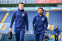 Blackburn Rovers' Paul Downing and Bradley Dack arrive at Ewood Park before the match<br /> <br /> Photographer Alex Dodd/CameraSport<br /> <br /> The EFL Sky Bet Championship - Blackburn Rovers v Rotherham United - Saturday 10th November 2018 - Ewood Park - Blackburn<br /> <br /> World Copyright &copy; 2018 CameraSport. All rights reserved. 43 Linden Ave. Countesthorpe. Leicester. England. LE8 5PG - Tel: +44 (0) 116 277 4147 - admin@camerasport.com - www.camerasport.com