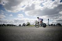 Nikias Arndt (DEU/Giant-Alpecin) starting his TT over the Kings Dominion (theme park) car park<br /> <br /> Elite Men TT<br /> UCI Road World Championships / Richmond 2015