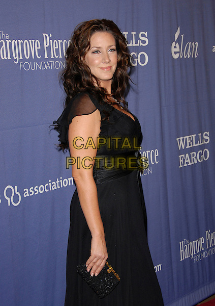 "JOELY FISHER.The 15th Annual ""A Night at Sardi's"" Fundraiser and Awards held at The Beverly Hilton Hotel in Beverly Hills, California, USA..March 7th, 2007.half length black dress ribbon belt.CAP/DVS.©Debbie VanStory/Capital Pictures"